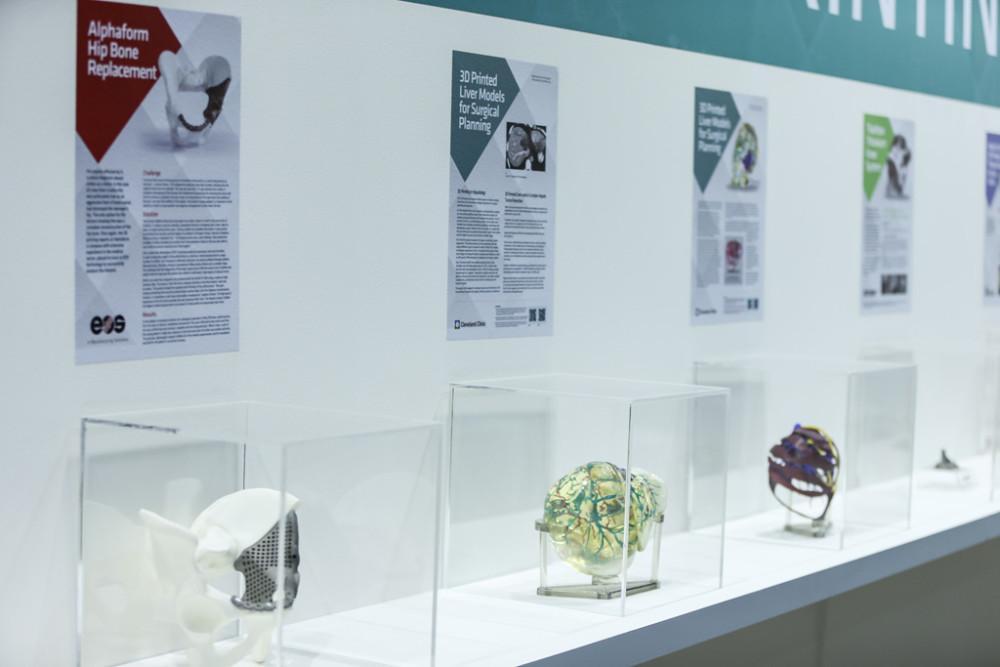 Medical 3D printing exhibit at Arab Health.