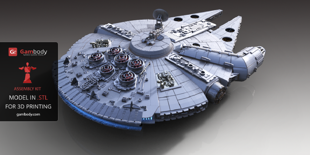 Gambody Produces Incredibly Detailed 3D Printed Scale Model of the Millennium Falcon