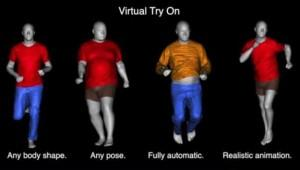 3D avatars can be used to virtually try on clothing.