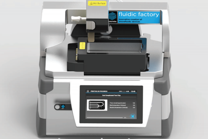 The Fluidic Factory is the First Commercial 3D Printer for Fabricating Microfluidic Chips & More