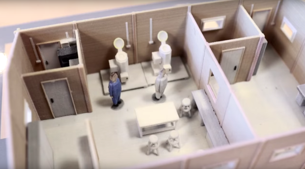 The 3D printed hospital model.