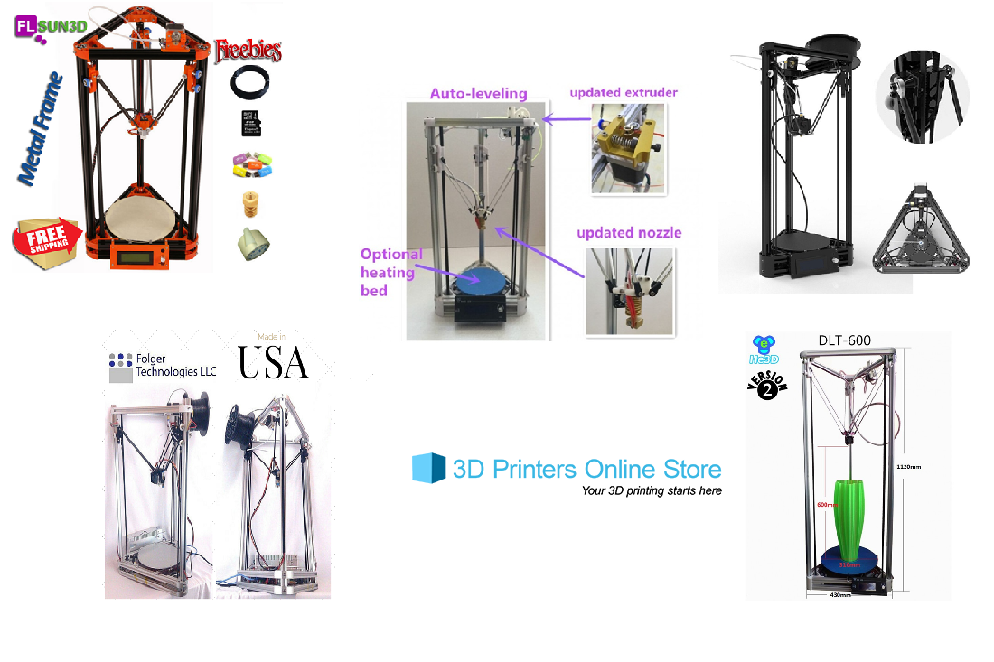 Top 5 Budget Delta 3D Printers from 3D Printers Online Store - 2016