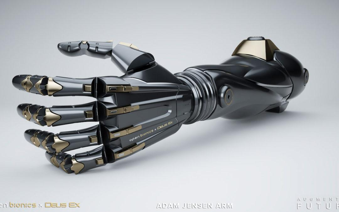 Open Bionics and Eidos-Montréal are Designing Functional 3D Printable Arm Prosthetics Based on the Deus Ex Universe