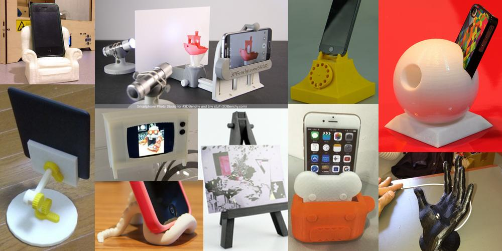 Weekly Roundup: Ten 3D Printable Things -- Smartphone Stands and Smartphone Accessories