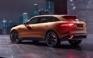 The 2017 Jaguar F Pace.