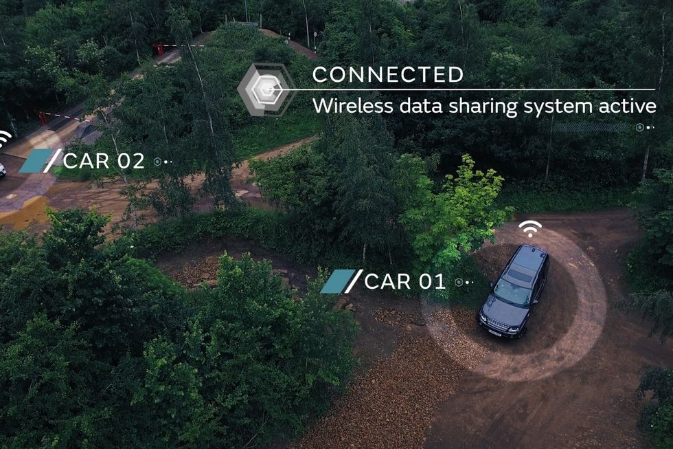 Cars will be able to share data about existing road conditions.