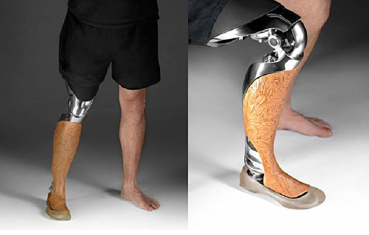 Custom 3D printed leg prosthetics.