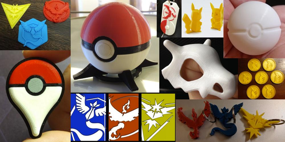Ten 3D printable Pokemon Go Things.