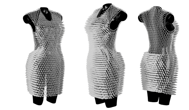 Fashion Student's Dissertation Includes a Beautiful 3D Printed Dress Created with Help from Materialise