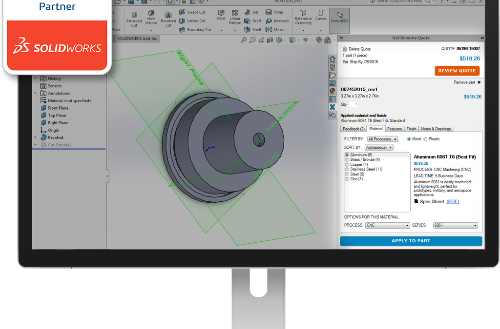 Xometry Enhances One-Stop Manufacturing Platform With SOLIDWORKS Integration