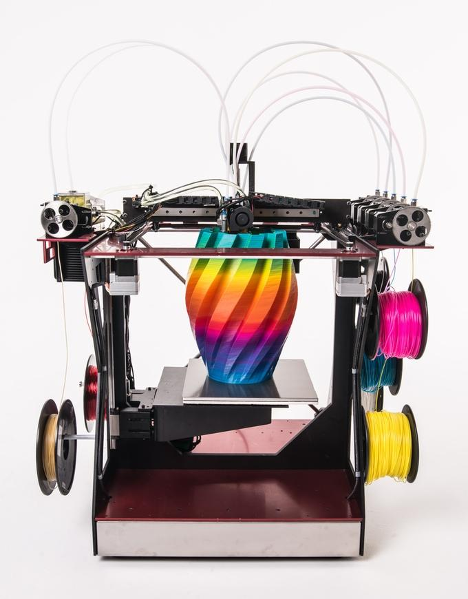RoVa4D Full Color Blender 3D Printer Reaches Kickstarter