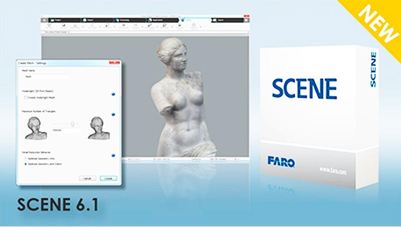 FARO Releases SCENE 6.1, Offering Superior Management of 3D Laser Scanned Data