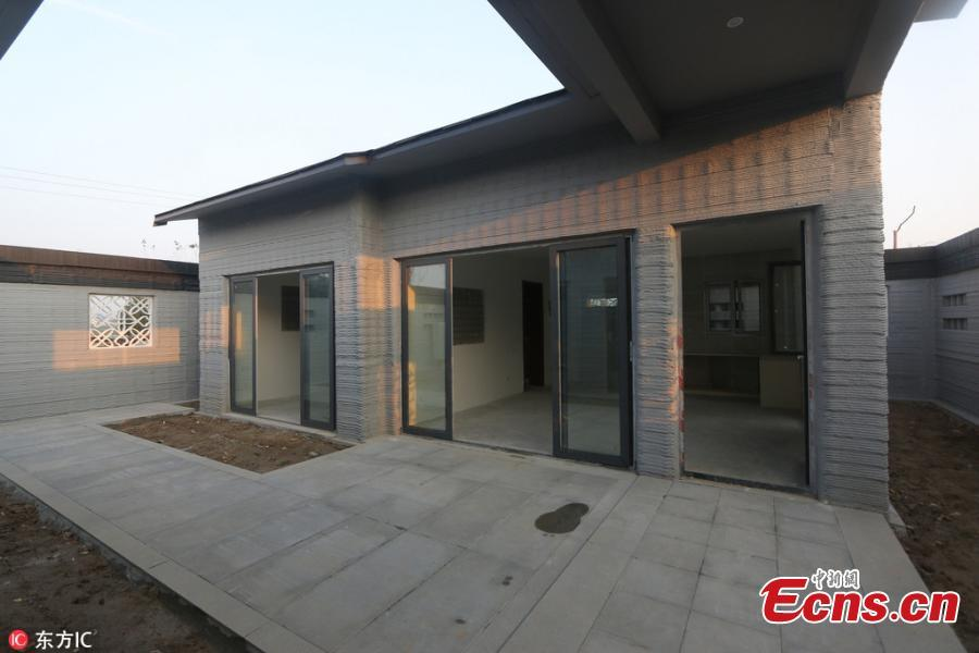 China 3D Printed House Makes Debut in Shandong Province