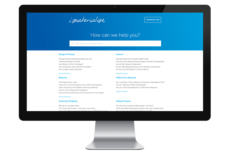 i.materialise Launches Help Center to Answer Questions About Their 3D Printing Services