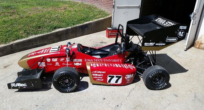 ISU Students 3D Print Intake, Dashboard, Heel Cups for This Year's SAE Racecar—the CR-21