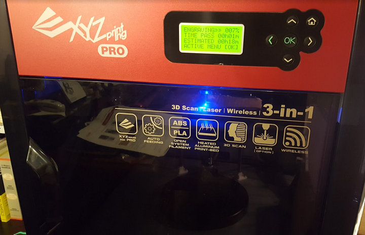 3D Printer Review: XYZprinting's da Vinci 1.0 Pro 3-in-1 Offers Solid Performance in 3D Printing & Laser Engraving, Lackluster 3D Scanning