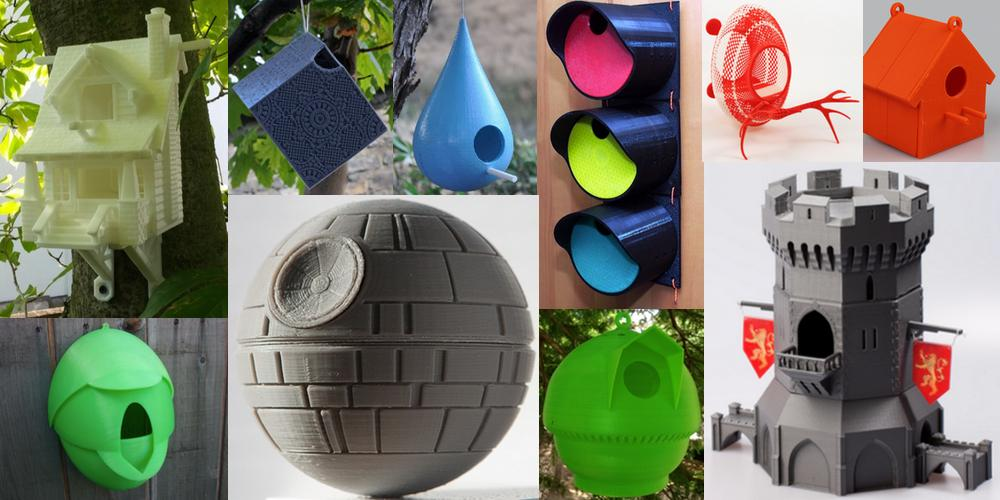 Weekly Roundup: Ten Awesome 3D Printable Birdhouses