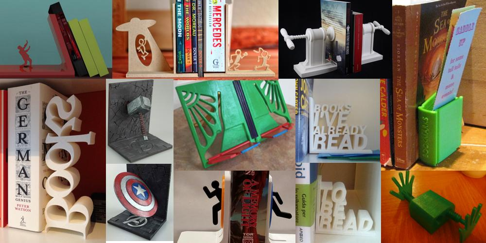 Weekly Roundup: Ten 3D Printable Bookends & Book Stands