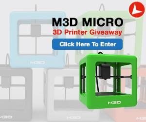 M3D Micro 3D Printer Giveaway Peel Back