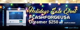 FLASHFORGE 280x105 Holiday Banner