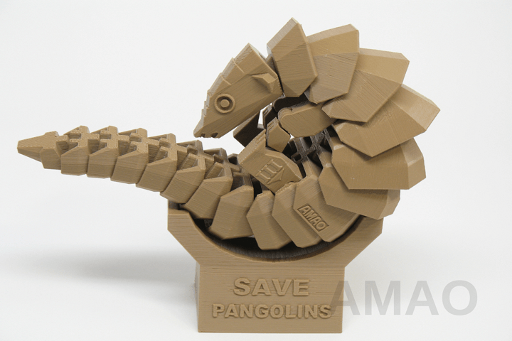 3D Printable Pangolin Set to Raise Awareness of This Endangered Creature