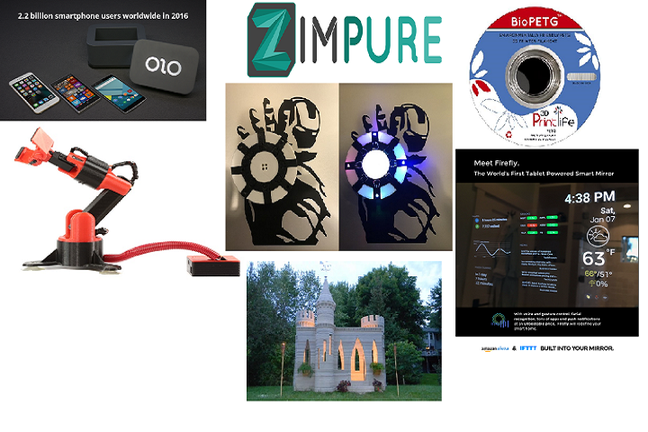 3D Printing on Kickstarter Today: 3D Printers, Enclosures, Materials, Gadgets, Smart Mirrors and Castles