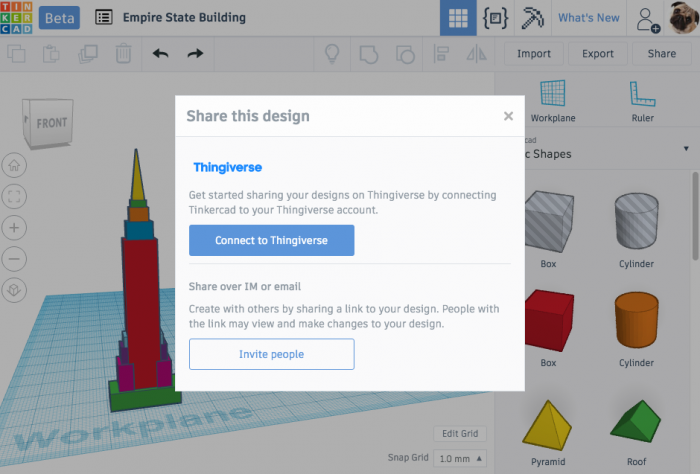 With Thingiverse Upload, Users Can Publish 3D Designs Straight from Tinkercad