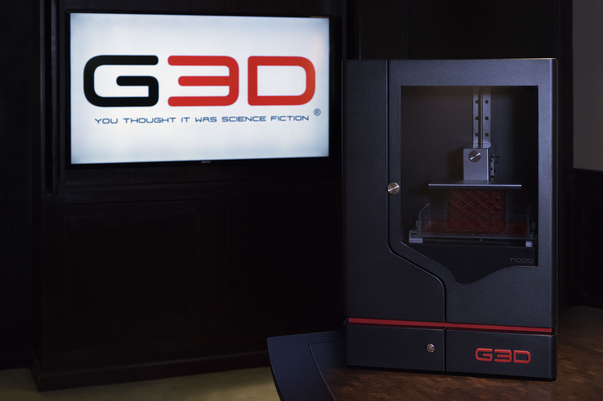 G3D s T 1000 SLA 3D Printer is Fast at Both 3D Printing and Raising