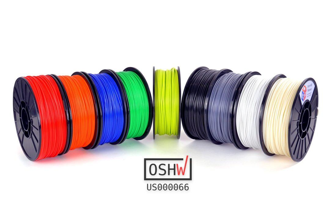 IC3D and Aleph Objects Announce Availability of First-Ever Open Source 3D Printer Filament