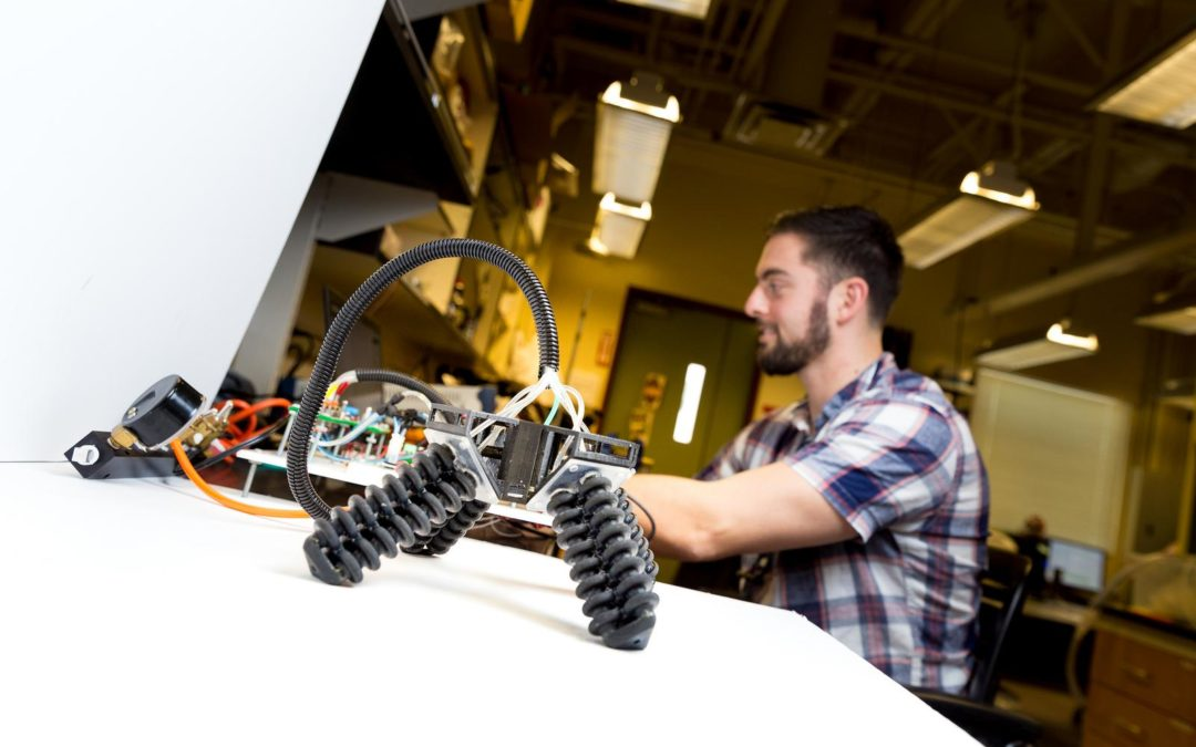 UC San Diego Researchers' Soft Robot Can Walk Over Rough Terrain with Four 3D Printed Legs