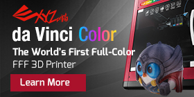 XYZ da Vinci Color - The World's First Full-Color FFF 3D Printer