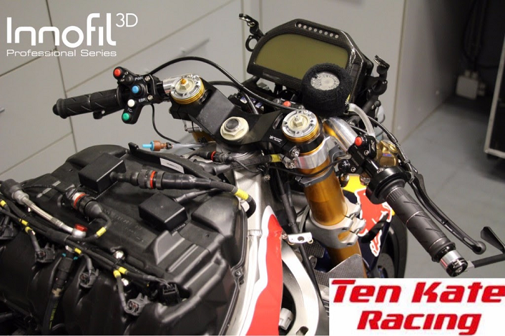Innofil3D Partners with Ten Kate Racing and Polyscope to Release New ABS Material for 3D Printed Superbike Racing Components
