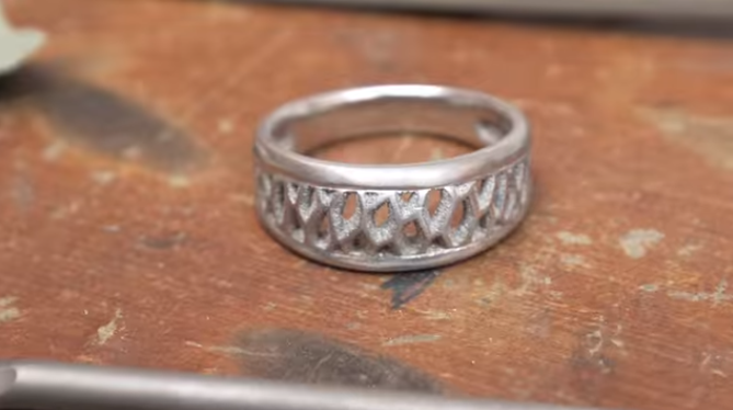 jewelry by titanium printed from ring made solitaire radian rings shop