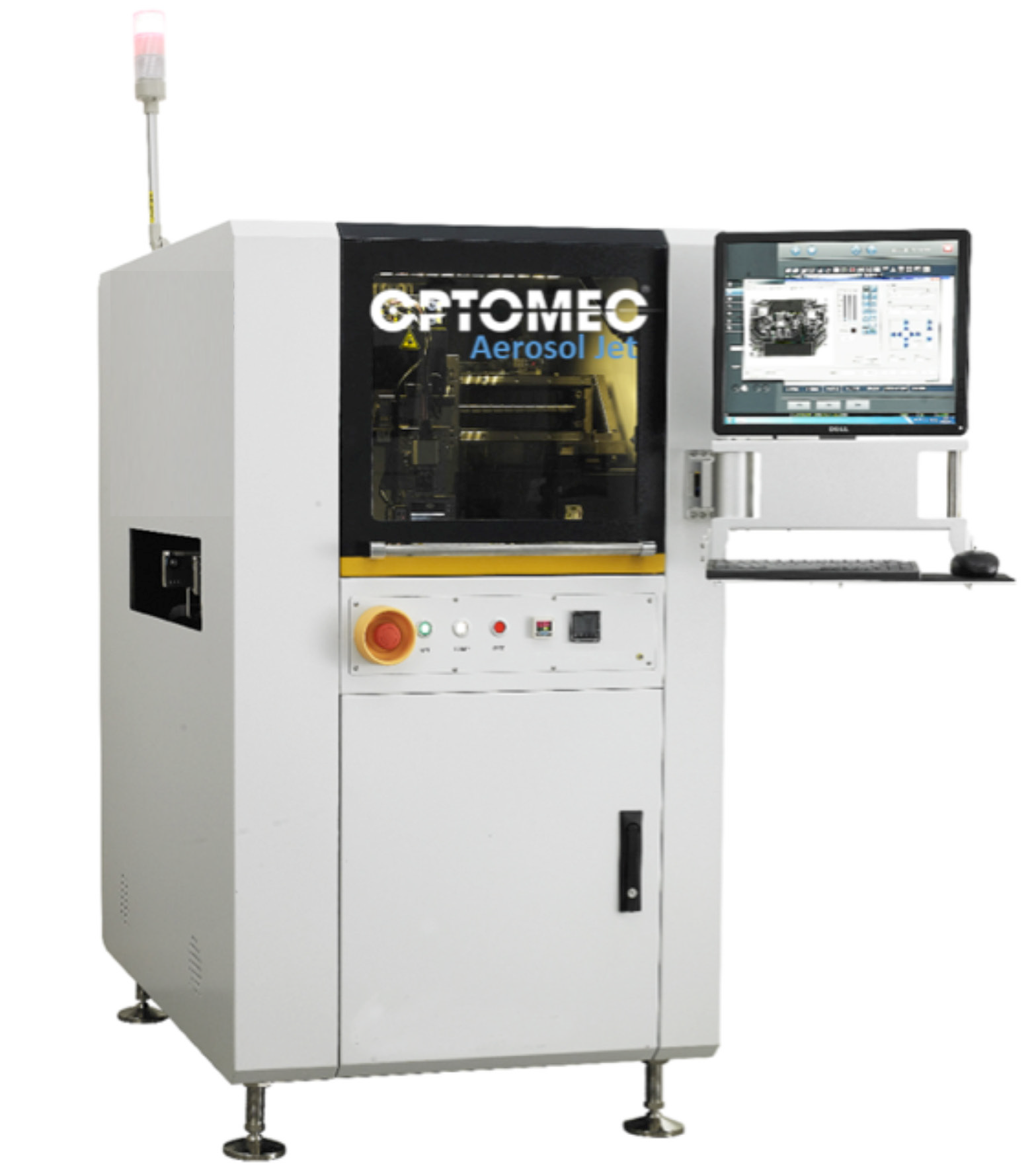 Fine Detail Electronics 3d Printing Optomec Fills Us In On The New Although Manufacturing Printed Circuit Boards Through Additive Size But Also Capable Of Larger Feature Production From Hundreds Microns To Millimeters And Can Print Wide Area Confromal Coatings Thicknesses