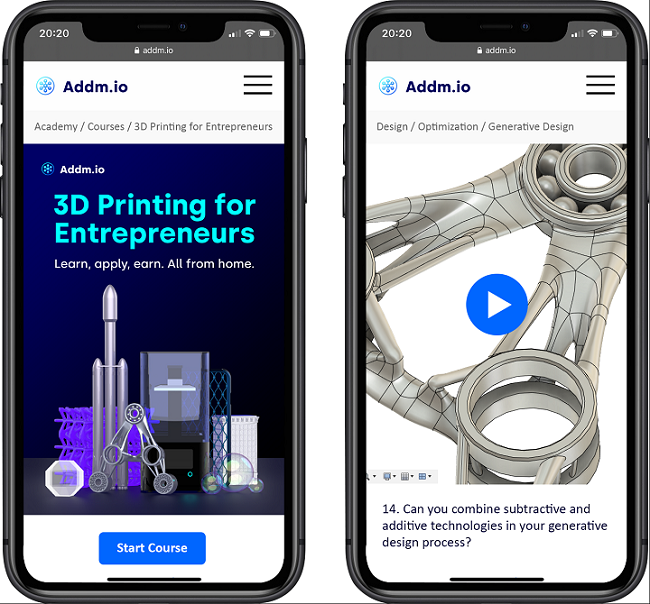 Addmio Kickstarter Marketing campaign for '3D Printing for Entrepreneurs' On-line Course
