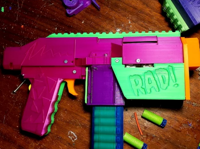 Area of interest Made: Modding NERF Weapons With 3D Printing