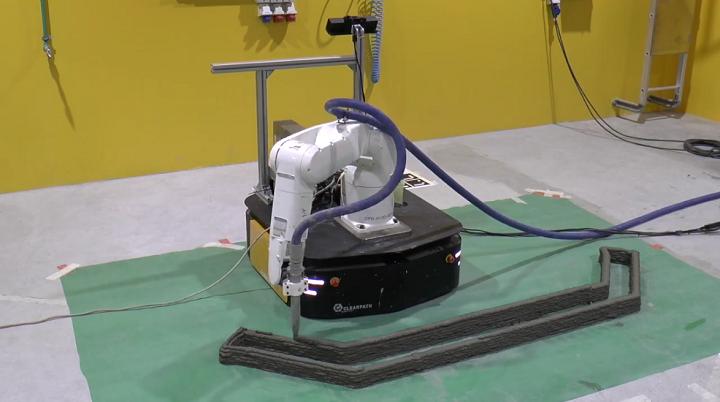 Cell Robotic System 3D Prints Single-Piece Concrete Buildings 2
