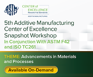 5th Additive Manufacturing Center of Excellence Snapshot Workshop