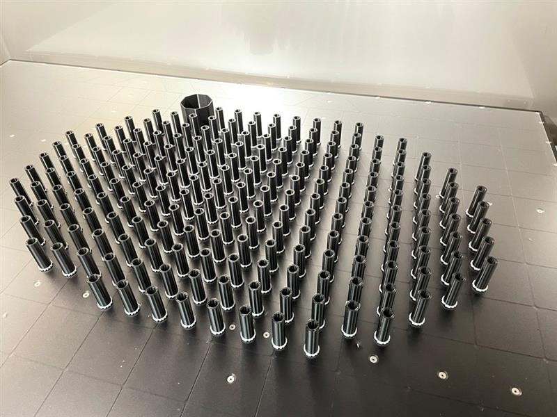 HVAC cabinet spacers printed on the Stratasys F770